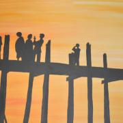 Soleil couchant sur le pont d' Amanapura