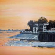 couchant en baie de Somme : le Crotoy