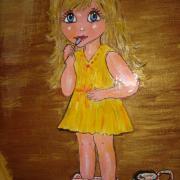 La petite fille et son pot