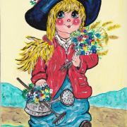 La fillette en fleurs -