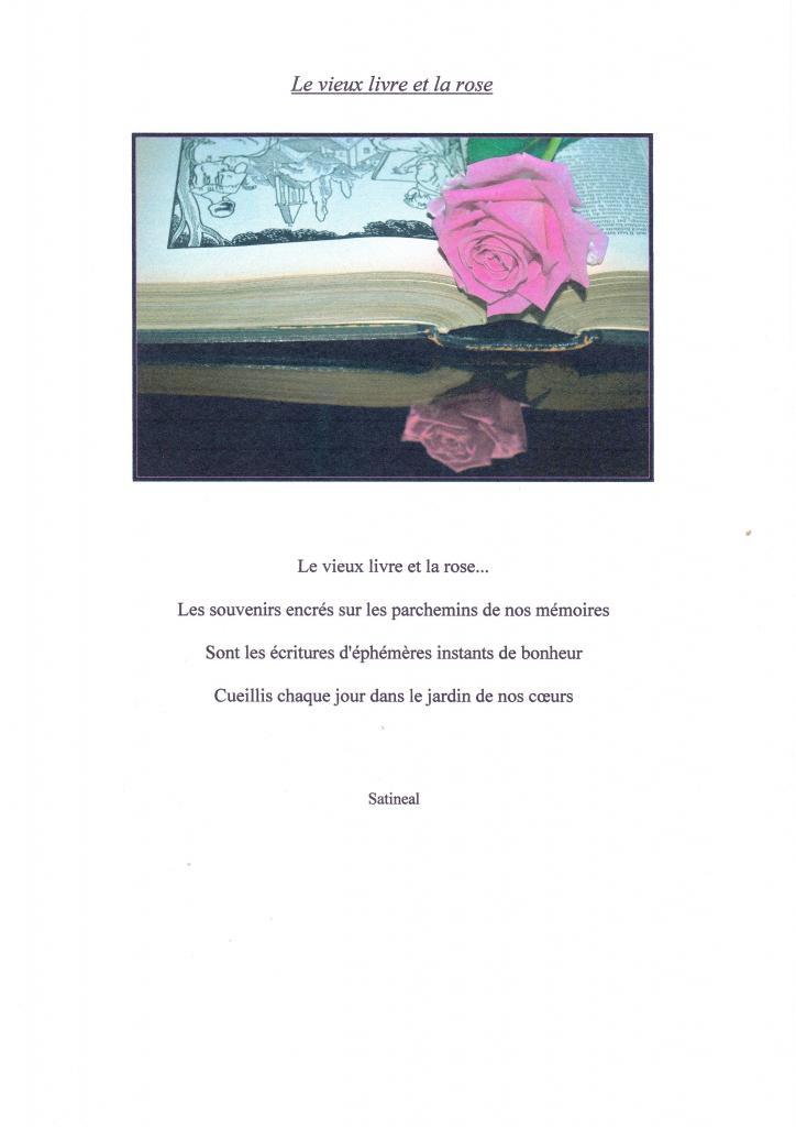 Le vieux livre et la rose